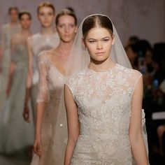 Some are hideous and some are gorgeous. Attention, Brides! The 6 Biggest Wedding Dress Trends For Fall 2015: Anyone who thinks the defining factor of a wedding dress is that it's white hasn't been to Bridal Fashion Week.