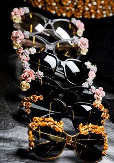 Sunglasses backstage at Dolce & Gabbana, Fall 2012