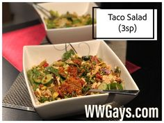 We love taco salad! Easy to make and so filling! Kale, Spinach, Blue Menu, Types Of Salad, Taco Seasoning, Ground Turkey, Lettuce, Warriors, Cucumber
