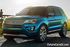 2016 Ford Explorer front view- if this is really a little turquoise.. I'm all in!