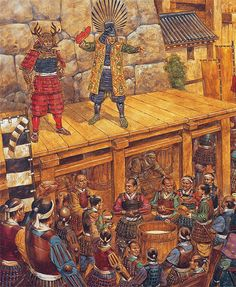 "Richard Hook - ""Toyotomi Hideyori prepares to leave Osaka Castle for the last time, 4 june 1615"""