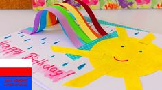 Kartka urodzinowa z tęczą i słońcem | prosty pomysł | Rainbow Birthday Card DIY Idea  Subskrybuj nasz kanał: ...  Youtube kanał: .... Diy, Art, Card, Pom, Rainbow, Birthday,