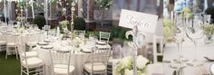 The reception area was set up under a massive white canopy. I just love a classic white wedding!