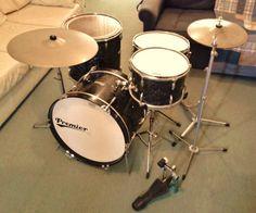 Vintage 60s Premier Ajax Made Edgware B H Jazz Drum Kit Made in England NR | eBay
