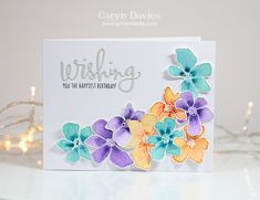 Such a Gorgeous creation by Caryn for the Simon Says Stamp Wednesday challenge using SSS exclusives.