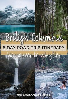 Road trip Vancouver to Whistler in British Columbia using this 5-day travel itinerary, featuring the best hiking spots, hot springs, and waterfalls. #britishcolumbiaroadtrip #britishcolumbiatravel #vancouvercanada #vancouvertowhistlerroadtrip #hikesnearvancouver Cool Places To Visit, Places To Travel, Travel Destinations, Visit Canada, Canada Trip, Montreal, British Columbia, Columbia Travel, Canada Vancouver