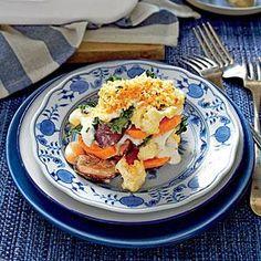 Sweet Potato, Cauliflower, and Greens Casserole Recipe | MyRecipes.com