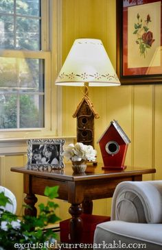 DIY Birdhouse Lamp by Exquisitely Unremarkable