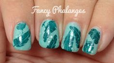 Fancy Phalanges: Teal Tuesday: Feathers