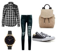 """Untitled #7"" by gloriamx ❤ liked on Polyvore featuring Current/Elliott, Boohoo, rag & bone, Olivia Burton and Converse"