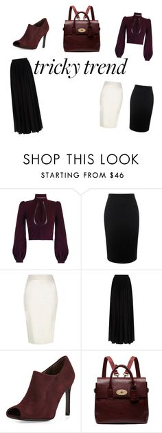 """neck blouse"" by redsnookie on Polyvore featuring Alexander McQueen, River Island, Elie Saab, Stuart Weitzman, Mulberry, women's clothing, women's fashion, women, female and woman"