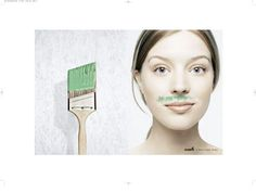The Print Ad titled MOUSTACHE was done by Saatchi & Saatchi advertising agency for product: Olympic Paint (brand: Ppg Industries) in United States. It was released in the Apr 2005. Business sector is: Household.