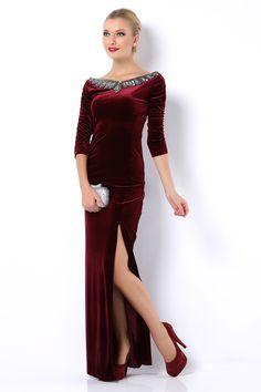 Yan Yırtmaçlı Elbise - http://www.tozlucaddeler.com/yan-yirtmacli-elbise/