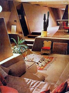 superseventies:  1975 interior design.Interiors Inspiration, Strutin Resident, 1975 Interiors, Interiors 02, Paul Rudolph, Interiors Design, Living Room, Apartments 1978, Rudolph Apartments