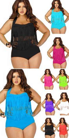 a19cd5ac3ee 2015 Newest Summer Plus Size Tassels Bikinis High Waist Sexy Swimsuit Women  Bikini Swimwear Padded Fringe
