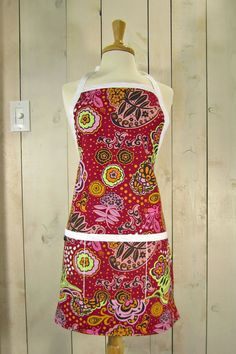 Floral Lollipop Adult Reversible Full Apron by luckyduckydesigns, $44.00