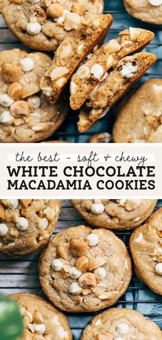 These are the BEST white chocolate macadamia nut cookies! They have rich depth of flavor, using browned and salted European style butter and roasted salted macadamia nuts. They're the perfect balance of salty and sweet with a thick, soft, and chewy texture. #cookierecipe #macadamianut #whitechocolate #cookies #butternutbakery | butternutbakeryblog.com Fun Baking Recipes, Best Dessert Recipes, Fun Desserts, Sweet Recipes, Cookie Recipes, White Chocolate Macadamia Cookies, Best White Chocolate, Macadamia Nut Cookies, Cupcakes
