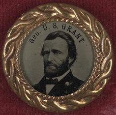 Gen. U.S. Grant campaign button for 1868 presidential election