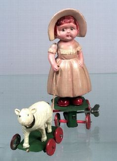 Yone Celluloid Wind-Up Mary and Her Lamb 1920-1930
