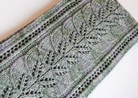 So pretty. Brooke's Column of Leaves Knitted Scarf Pattern
