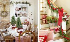 Farmhouse-Polka Dot and Plaids for Christmas
