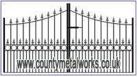 Iron Gates Garden Gates Gates Uk. Providing service to customers in the UK. Our gates are hand made, by trained and qualified craftsman.