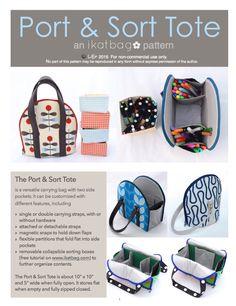 ikat bag: Port & Sort Tote Pattern!