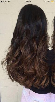 Brown Hair Balayage, Brown Blonde Hair, Hair Color Balayage, Light Brown Hair, Brown Highlights On Black Hair, Balayage Dark Brown Hair, Balayage Highlights, Ombre Dark Brown, Carmel Balayage
