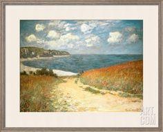 Path Through the Corn at Pourville, c.1882 Framed Art Print by Claude Monet at Art.com