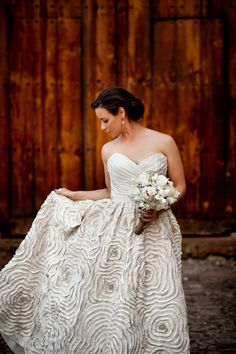 Amazing Amsale dress! See more from this Rustic, Romantic Destination Wedding In Guatemala here: http://su.pr/1zajr2 by Davina + Daniel Photography