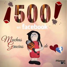ON y el equipo de HangoutON entusiasmados al alcanzar nuestros primeros 500 fans en #Facebook si todavía no conoces nuestra fanpage ¡a qué esperas! https://www.facebook.com/hangouton
