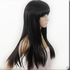 New wig Cosplay New Long Straight Black vogue Wig #Unbranded