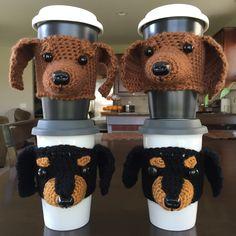 Dachshund Cozy, Dog Cozy, Crochet Dachshund, Doxie, Wiener Dog, Crochet Cozy