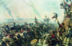 End of the Battle of Borodino- by Vasily Vereshchagin- 1900 Military Art, Military History, Military Diorama, Battle Of Borodino, Post Impressionism, Historical Art, Napoleonic Wars, France, Modern Art