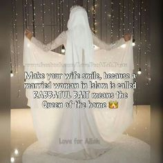 Her dress is beautiful and so are the words! Muslim Love Quotes, Islamic Love Quotes, Ali Quotes, Couple Quotes, Urdu Quotes, Islam Marriage, Islam Women, Marriage Couple, Islamic Messages
