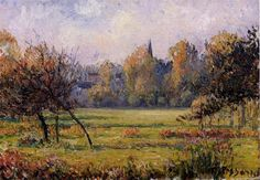 Landscape at Bazincourt - Camille Pissarro - WikiArt.org