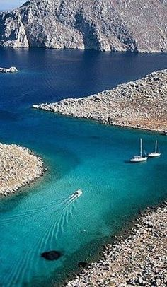 Speedboats and sailboats, an often uneasy relationship. Even here at Symi Island, Greece. Places Around The World, Oh The Places You'll Go, Places To Travel, Travel Destinations, Places To Visit, Around The Worlds, Dream Vacations, Vacation Spots, Wonderful Places