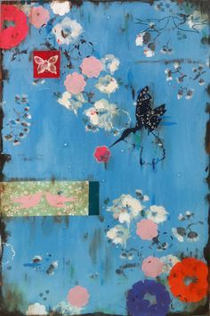 Kathe Fraga Art, www.kathefraga.com Inspired by the romance of vintage French wallpapers and Chinoiserie with a modern twist. 36x24 on frescoes canvas.