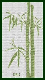Bonsoir mes amies ce soir je vous propose une grille 'Bambou' voici le modèle…  Free chart Bamboo from Kaligrilles