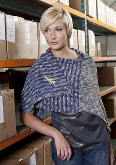 Free Knitting Pattern - Women's Shrugs, Wraps & Capes: Candlewood L-Shaped Shawl