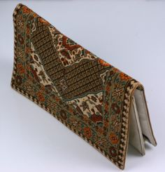 Rug Patterned Needlepoint Clutch