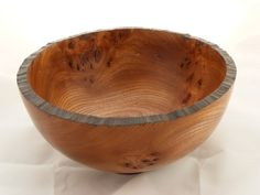 Elm Burr Bowl, scorched rim