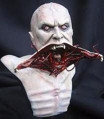 "Vampire concept art for novel ""The Strain"", by Guillermo del Toro."