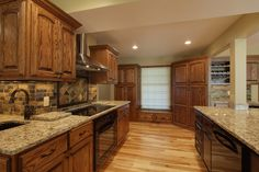 Finished Install Shots of a Kitchen Remodel  Remodel done by Eric at Hickorybridge Construction LLC Kitchen Countertops Stone: Santa Cecilia Granite #granite #kitchen #remodel #update #hickorybridge