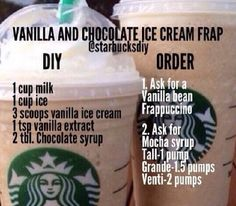 I love working as a barista at Starbucks, and I've spent my time on Delishably writing a series of guides to help customers order the perfect drink. This guide covers how to make homemade, copycat Starbucks frappuccinos. More ideas… … Milkshake Recipes, Smoothie Recipes, Milkshakes, Java Chip, Starbucks Secret Menu Drinks, Frappe Recipe, Café Chocolate, Starbucks Frappuccino, Vanilla Frappuccino