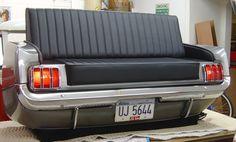 Furniture Made From Vehicles | Original Car Furniture made from original cars Ford Mustang 1965 ...