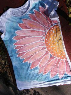 Hand painted, original design, women's t-shirt.  Custom orders welcomed.