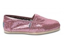 Oh, hell yes. Sparkles! Pink! Great casual slip-ons, Tom's Shoes, $54