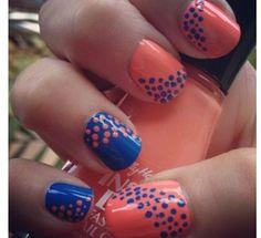 duel color, polka dots