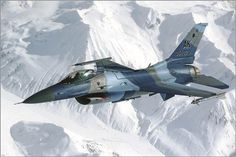 f 16 aggressor jet FLYING OVER SNOWY ALASKAN MOUNTAINS military power 24X36